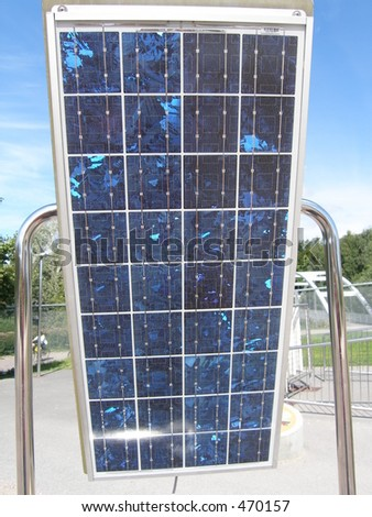Solar panels outside