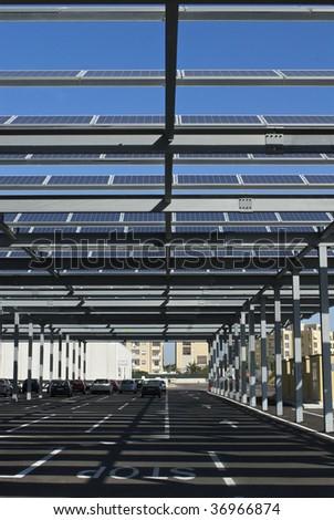 solar panels parking cover