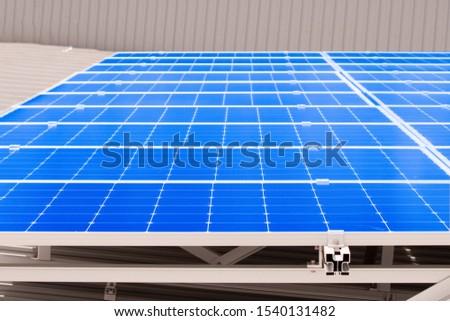 Solar panels, roof panel installation.