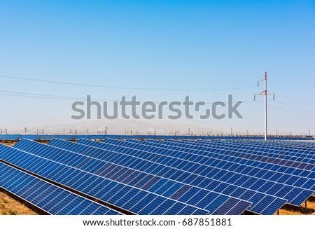 Solar panels, Solar energy plant #687851881