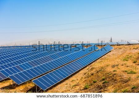 Solar panels, Solar energy plant #687851896