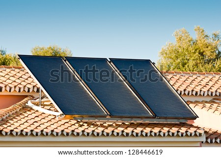 solar pannels on a roof