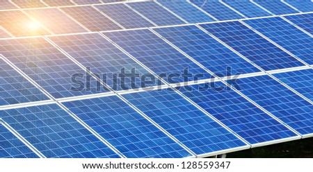 solar park sun blue energy