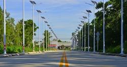 Solar photovoltaic powered street lamp