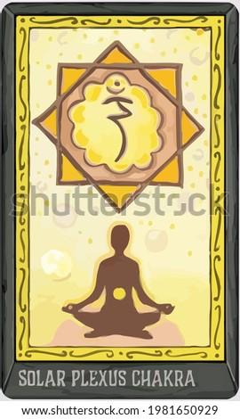 solar plexus chackra yellow yoga illustration Stock photo ©