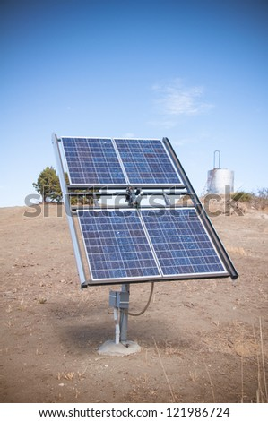 Solar power cell panels in the desert symbolizing the future of energy