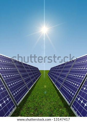 Solar power concept - stock photo