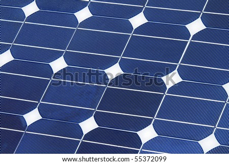 solar power detail - stock photo