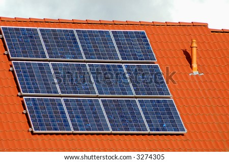 solar power on a roof