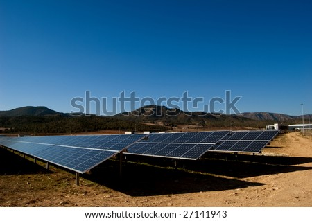 solar power plant in spain. stock photo : Solar power plant - Clean energy in Spain