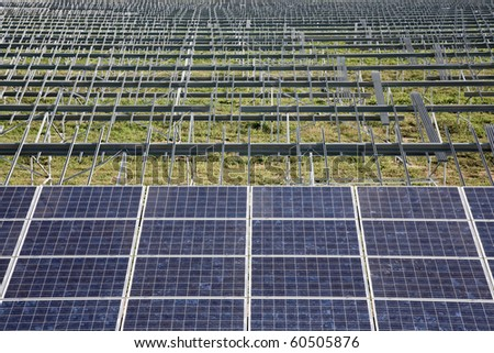 Solar power plant in construction.