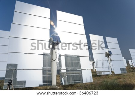 solar power plant spain. stock photo : Solar power