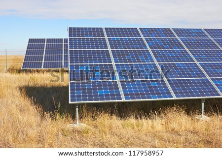 Solar Power Station in a field