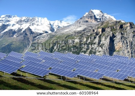 Solar power station in the mountain region - clean solution