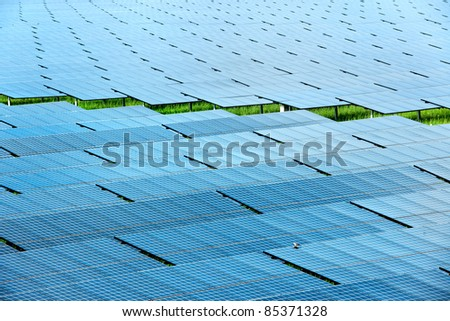 Solar power station top view