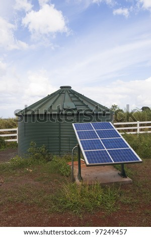 Solar Power Water Tank on Farm