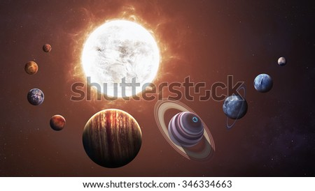 Solar system and space objects. Elements of this image furnished by NASA #346334663