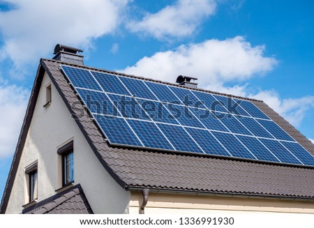 Solar system on a roof Own home