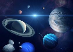 Solar system planet, sun and star. Sun, Mercury, Venus, planet Earth, Mars, Jupiter, Saturn, Uranus, Neptune. Sci-fi background. Elements of this image furnished by NASA.