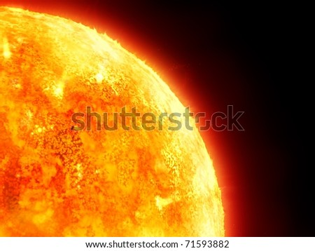 solar system - sun - stock photo