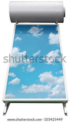 Solar Water Heating System Isolated with Clipping Path