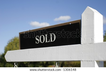 Sold! - stock photo