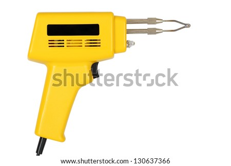 soldering gun isolated on white