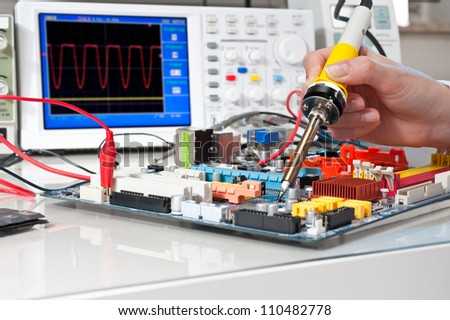 Soldering of electronic equipment