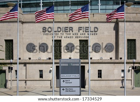 Soldier Field, a municipal stadium in downtown Chicago Illinois.