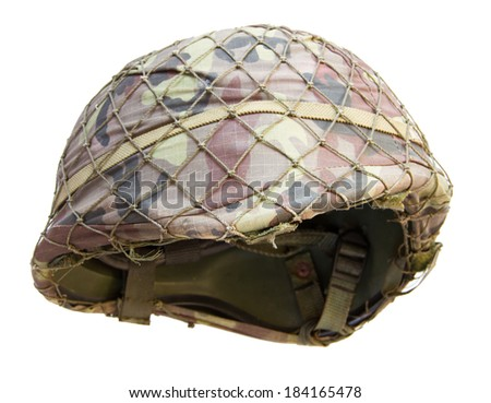 Soldier helmet on white background #184165478