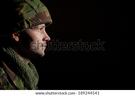 Soldier In Profile