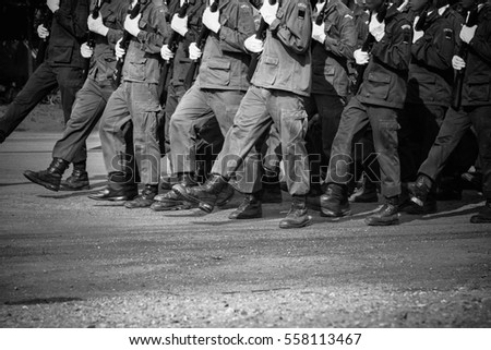 soldier marching training