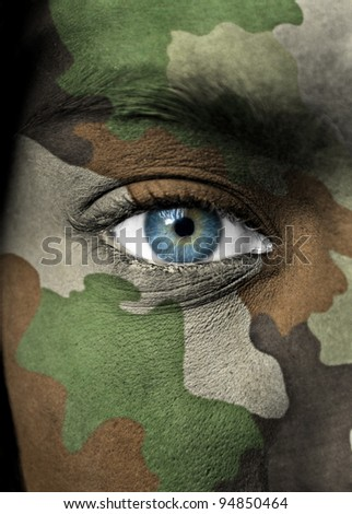 Soldier portrait - stock photo