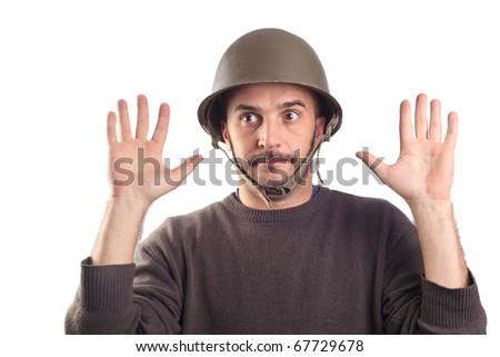 soldier surrendering