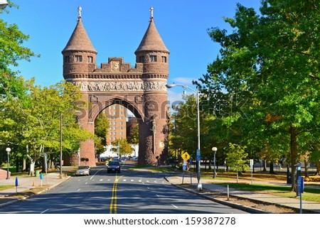 Soldiers and Sailors Memorial Arch, Bushnell Park, Hartford, Connecticut,USA