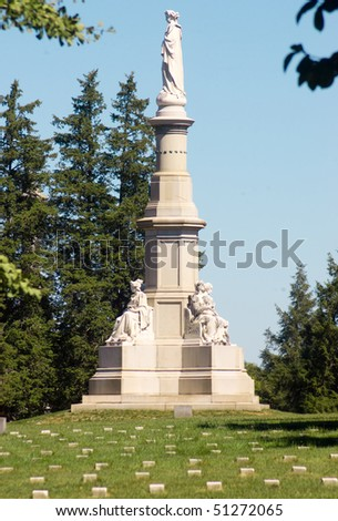 Soldiers National Monument in Gettysburg National Cemetery
