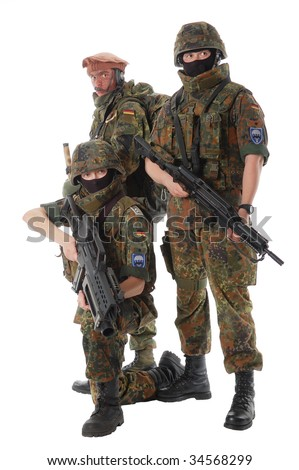 Soldiers of the Bundeswehr (Germany) with the weapon.