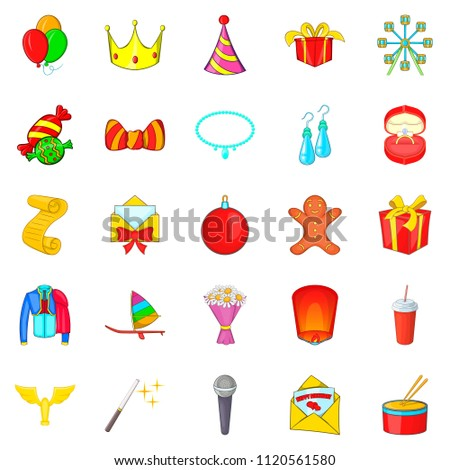 Solemn icons set. Cartoon set of 25 solemn icons for web isolated on white background