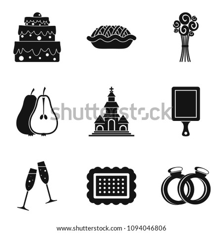 Solemnize icons set. Simple set of 9 solemnize icons for web isolated on white background