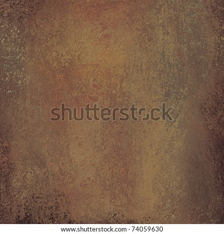 solid brown background or paper with warm earth tone grunge texture, darkened edges, and copy space