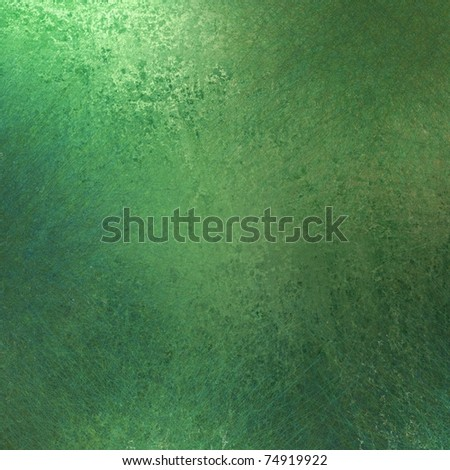 solid green background with old grunge texture and soft lighting