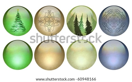 solid or Christmas pearlized buttons or ornaments
