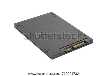 solid-state drive of computer on a white background #710021782