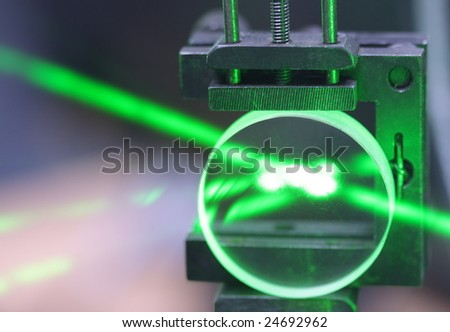 solid-state laser installation in physical laboratory
