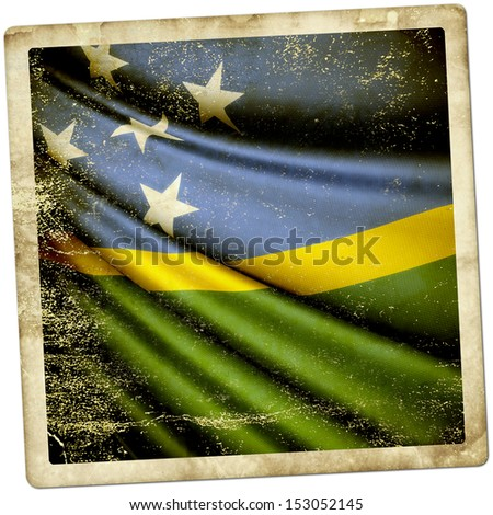 Solomon Islands Grunge Sticker