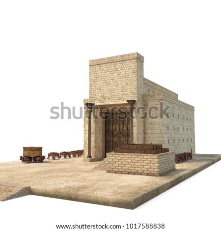 Solomons Temple on white. 3D illustration