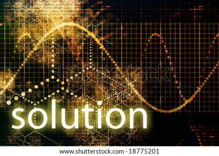 Solution Abstract Business Concept Wallpaper Presentation ...