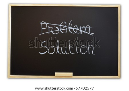 solution for a problem written on a chalk or black board
