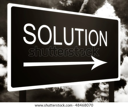 Solution sign
