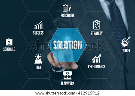 SOLUTION TECHNOLOGY COMMUNICATION TOUCHSCREEN FUTURISTIC CONCEPT